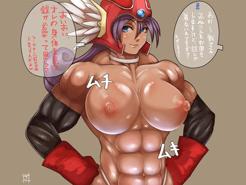 2次元 ムキムキの筋肉が堪らんマッスル美少女のエロ画像 48枚