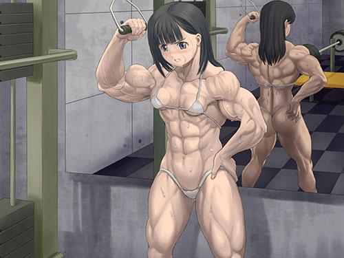 2次元 ガチムチ筋肉のマッスル娘さんと濃厚SEXエロ画像 60枚