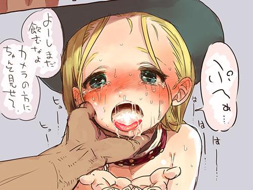 2次元 美少女のお口にたっぷりザーメン口内射精エロ画像 50枚