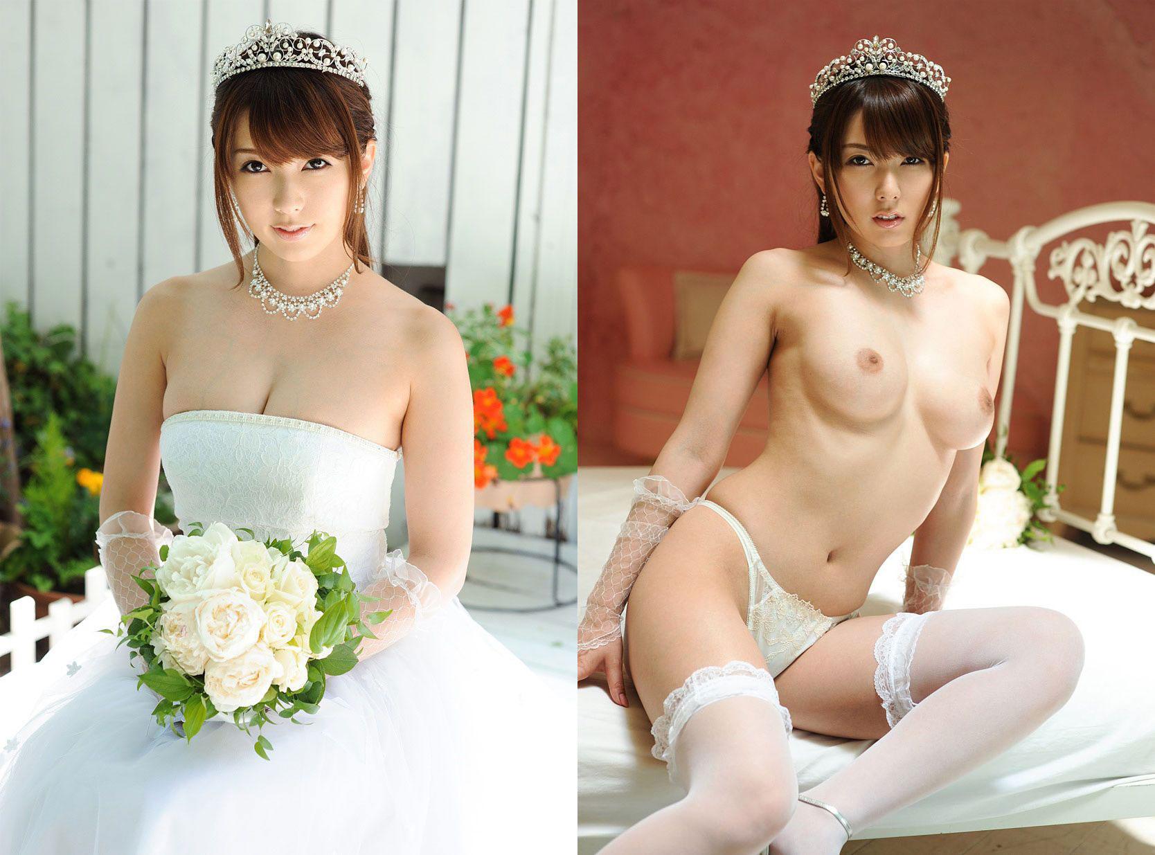ウェディングドレス フェラ