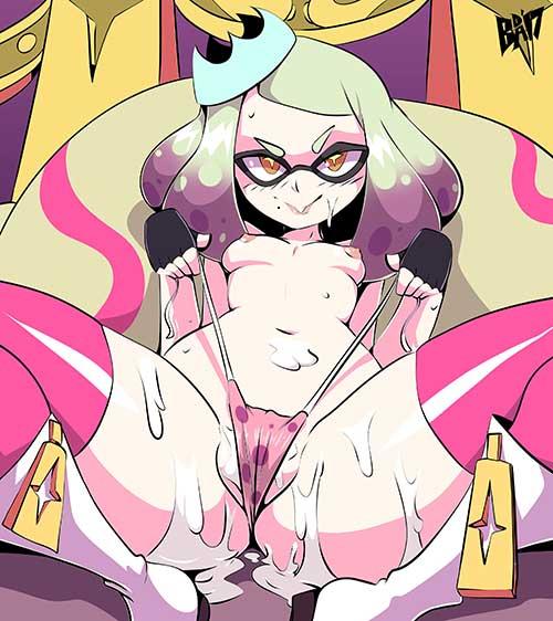 【ゲーム】スプラトゥーン2の女の子キャラのイカしたエロ画像!